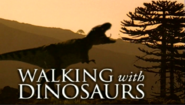 Walking with dinosaurs with Tyrannosaurus