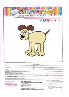 Charm it 2014 Creativity Design-a-charm contest Gromit
