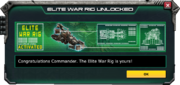 EliteWarRig-UnlockMessage