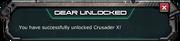 CrusaderX-GearsStore-UnlockMessage