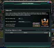 Alliance Manager Menu