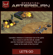 War commander afterburn email feel the burn