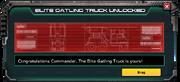 GatlingTruck-Elite-Unlocked-Message