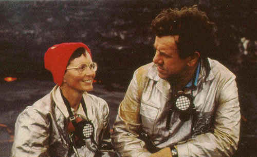 Katia and Maurice Krafft's Fire Retardant Suits