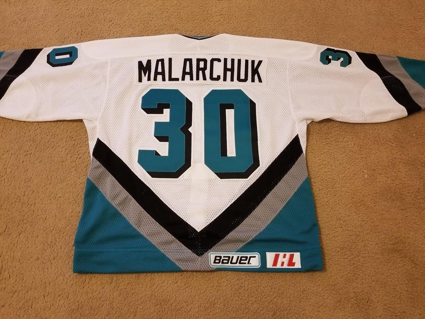 Clint Malarchuk's Blood-Stained Jersey