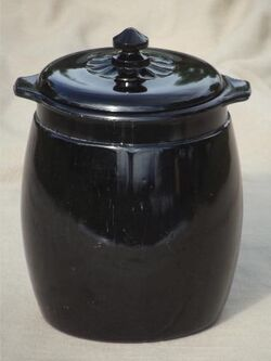 Vintage-black-milk-glass-cookie-jar-ebony-black-opaque-glass-painted-flowers-Laurel-Leaf-Farm-item-no-u93114-3.jpg