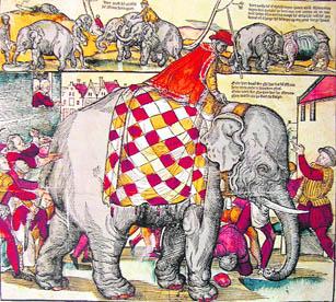 Memorial Fresco of Hanno the Elephant