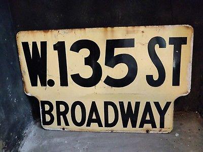Original Broadway Street Sign