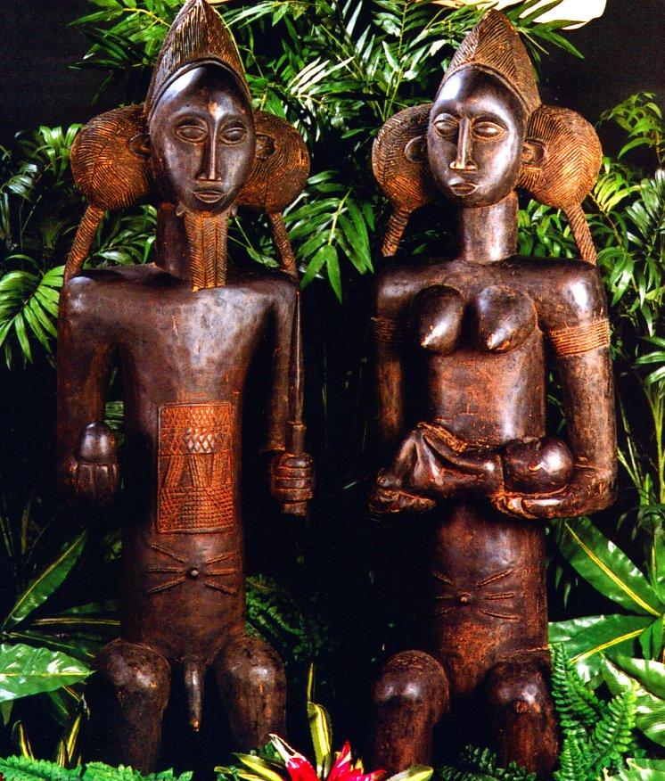 Pair of Fertility Statues