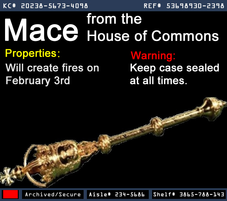 Mace from the House of Commons
