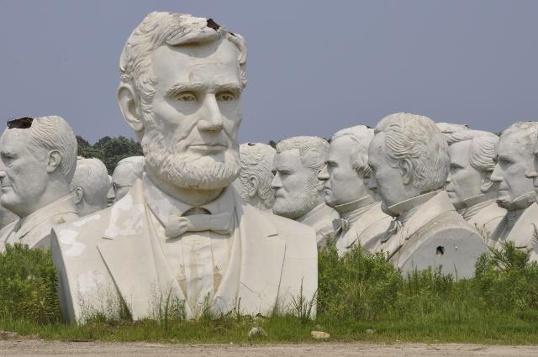 Gutzon Borglum's Presidential Busts