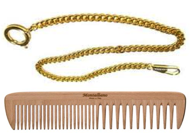 William Sydney Porter's Watch Chain and Hair Comb