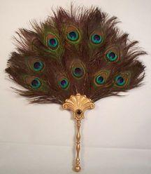 Hera's Peacock Feather Fan