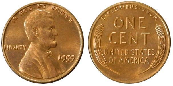 1955 Triple Die-Cents