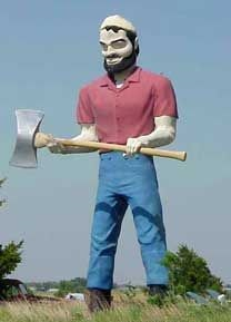 Paul Bunyan Fiberglass Statue