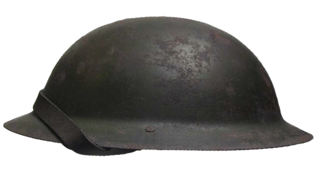 British WWI Soldier's Helmet from the Battle of the Somme River