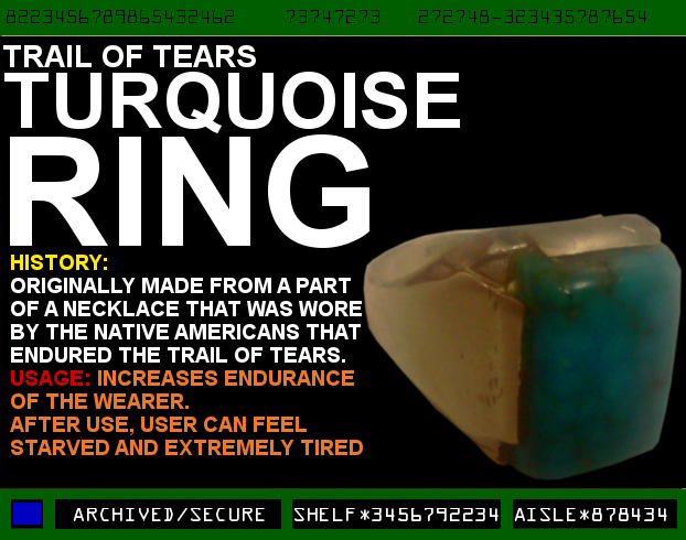 Trail of Tears Turquoise Ring