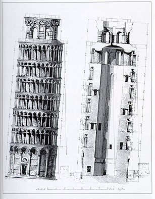 Blueprint for the Leaning Tower of Pisa