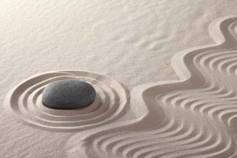 Wabi-Sabi Rock Garden Singing Sand
