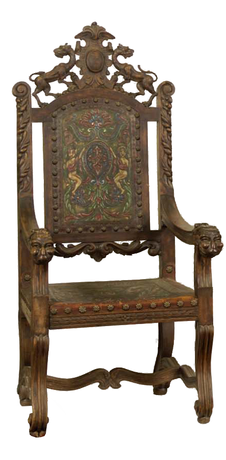 William Shakespeare's Chair from the Globe Theatre