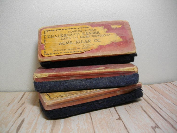Chalkboard Erasers from the Tanganyika Laughter Epidemic