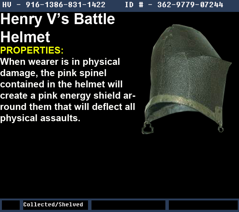 Henry V's Battle Helmet