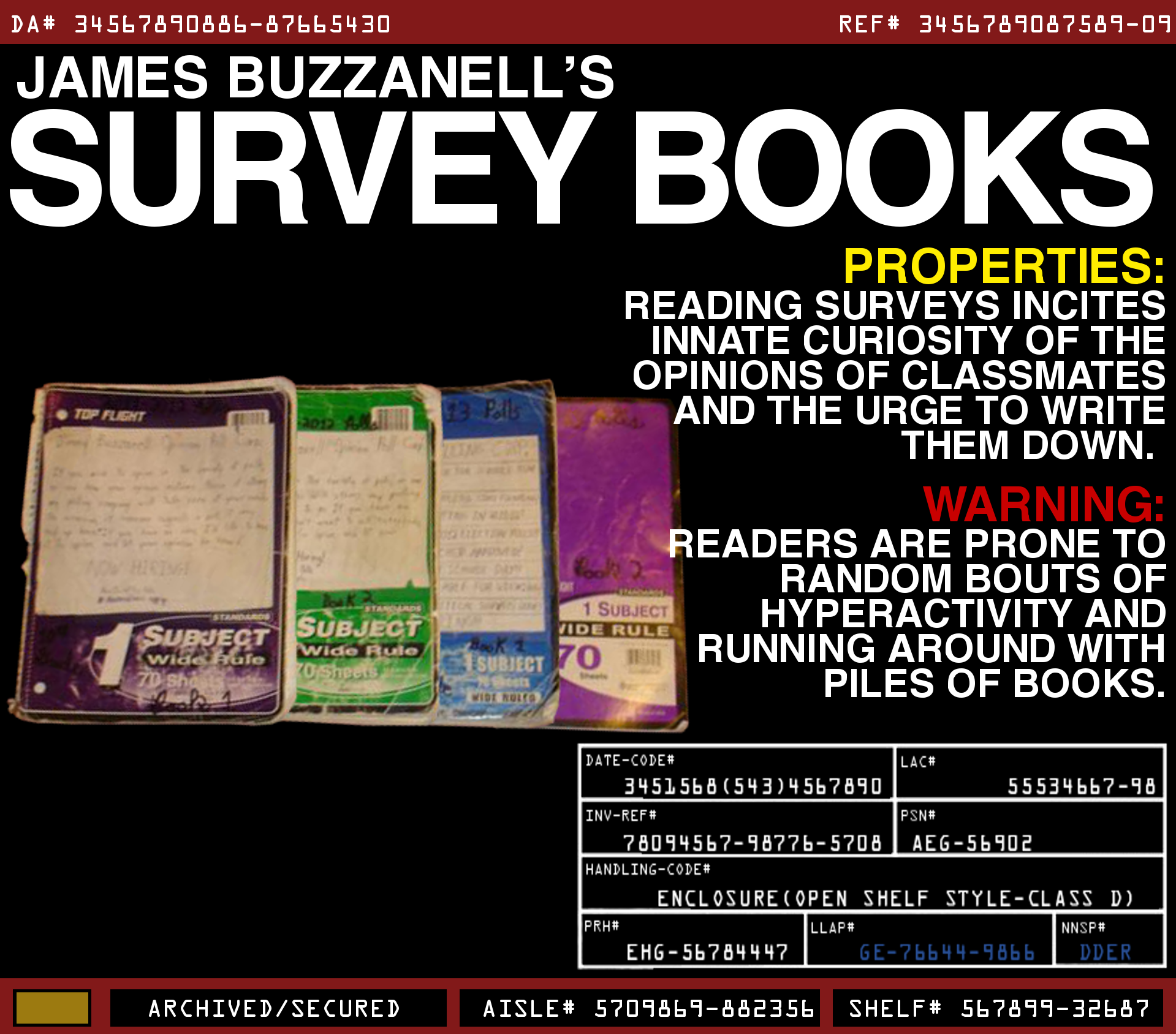 James Buzzanell's Survey Books