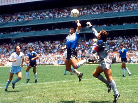 1986 FIFA World Cup, Argentina v England Soccer Goal