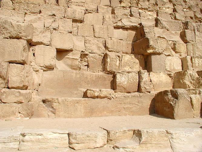 Sandstone Bricks from the Pyramid of Giza