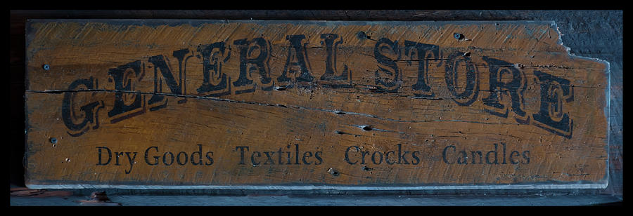 Flat Top Little General Store Gas Sign