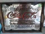 Vintage Coca-Cola Promotional Mirror Tray