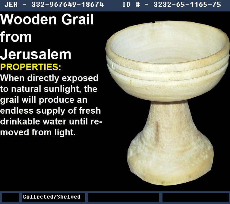 Wooden Grail from Jerusalem