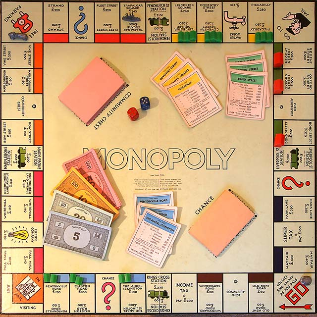 Monopoly Board from the Great Train Robbery