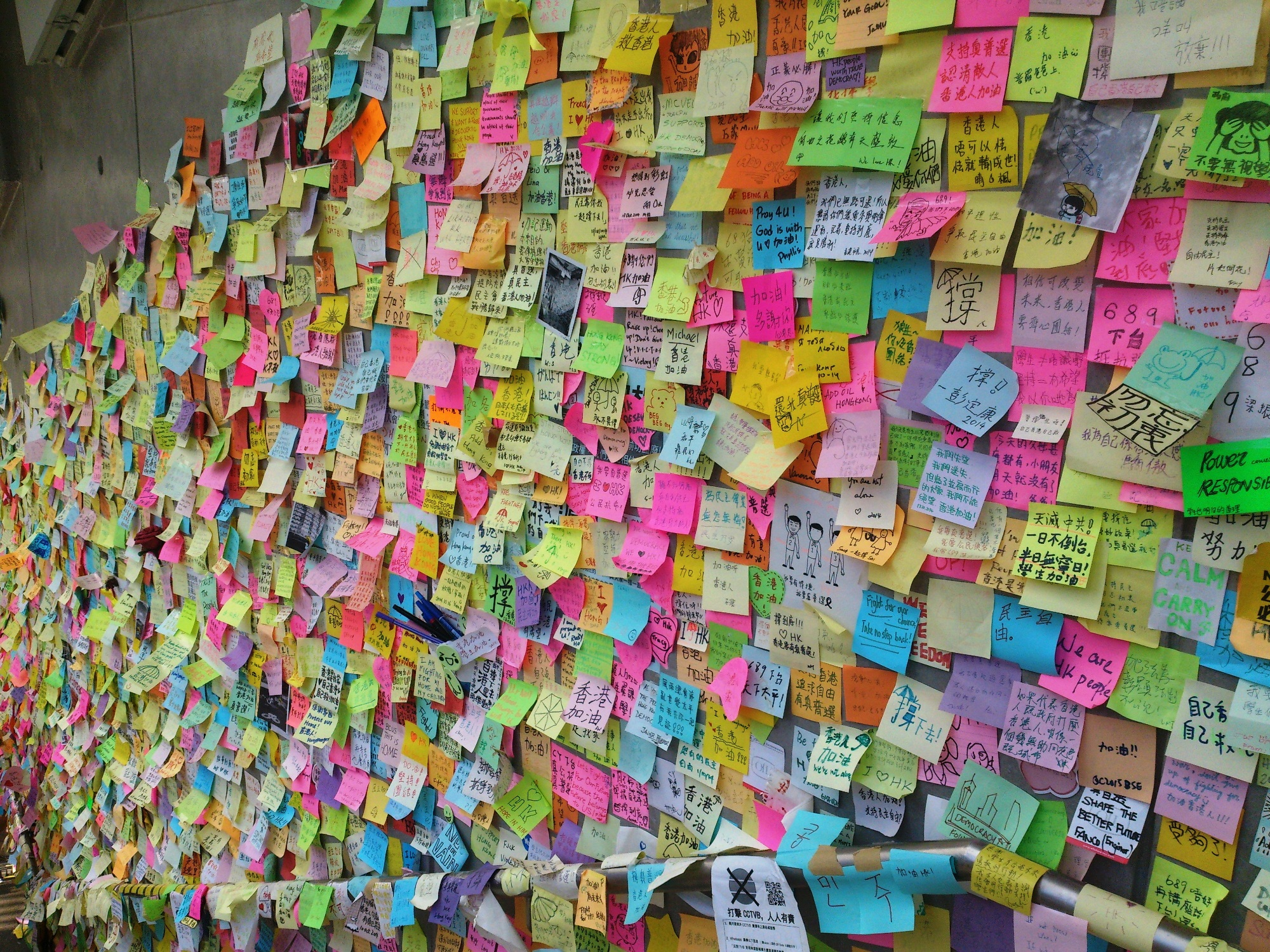 Post-It Notes from the Lennon Wall
