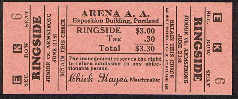 George Bellows' Fight Ticket