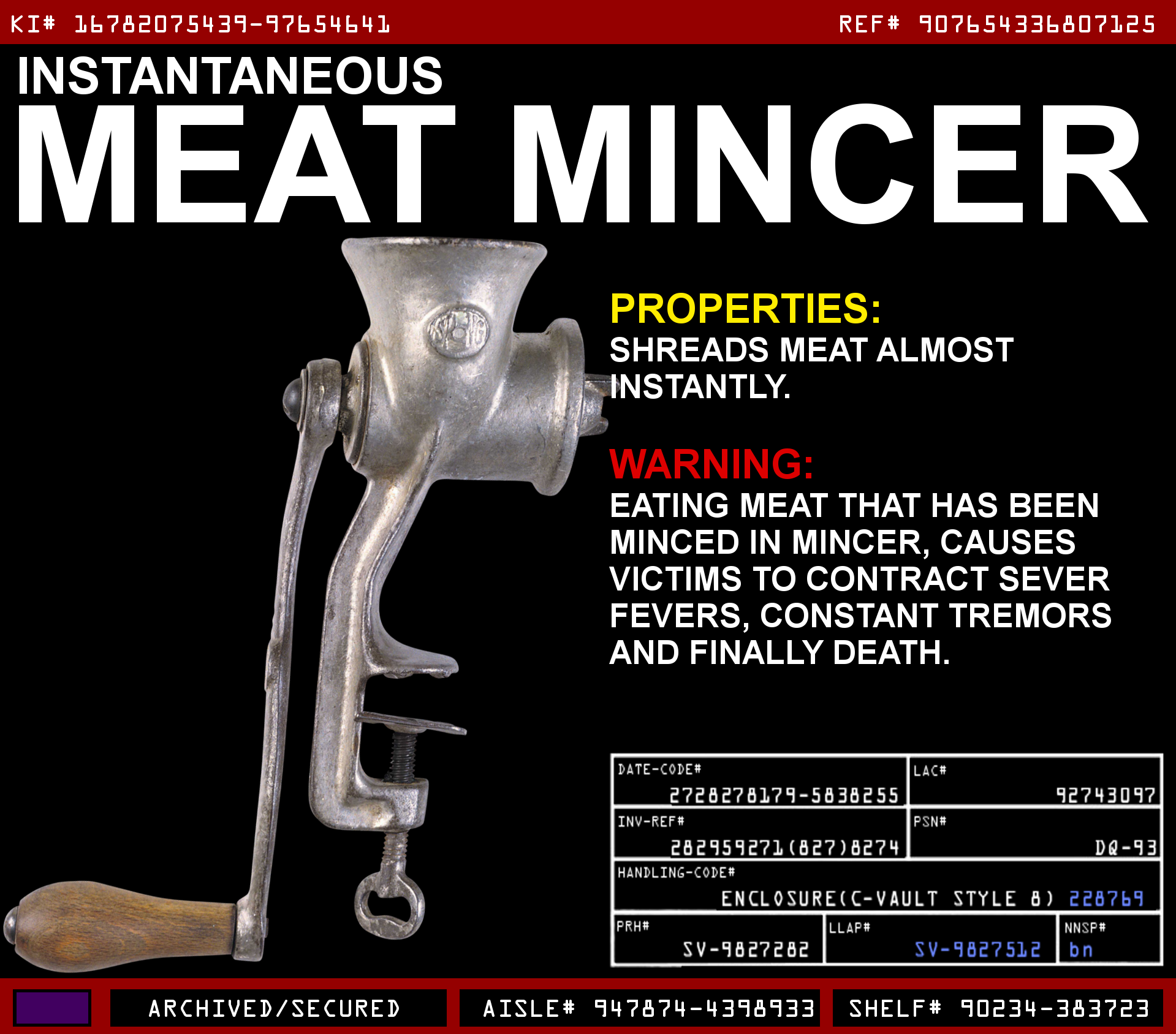 Instantaneous Meat Mincer