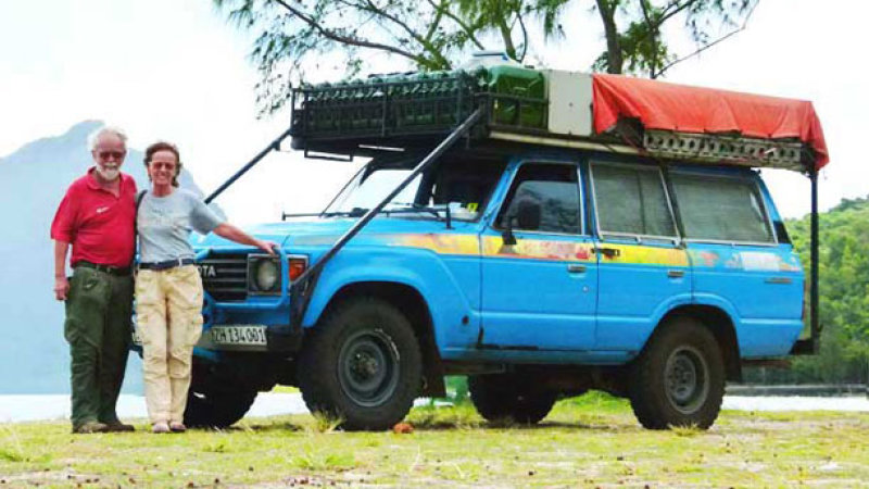 Emil and Lilana Schmid's Toyota Land Cruiser