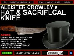 Aleister Crowley's Hat and knife.jpg