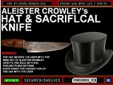 Aleister Crowley's Hat and Sacrificial Knife