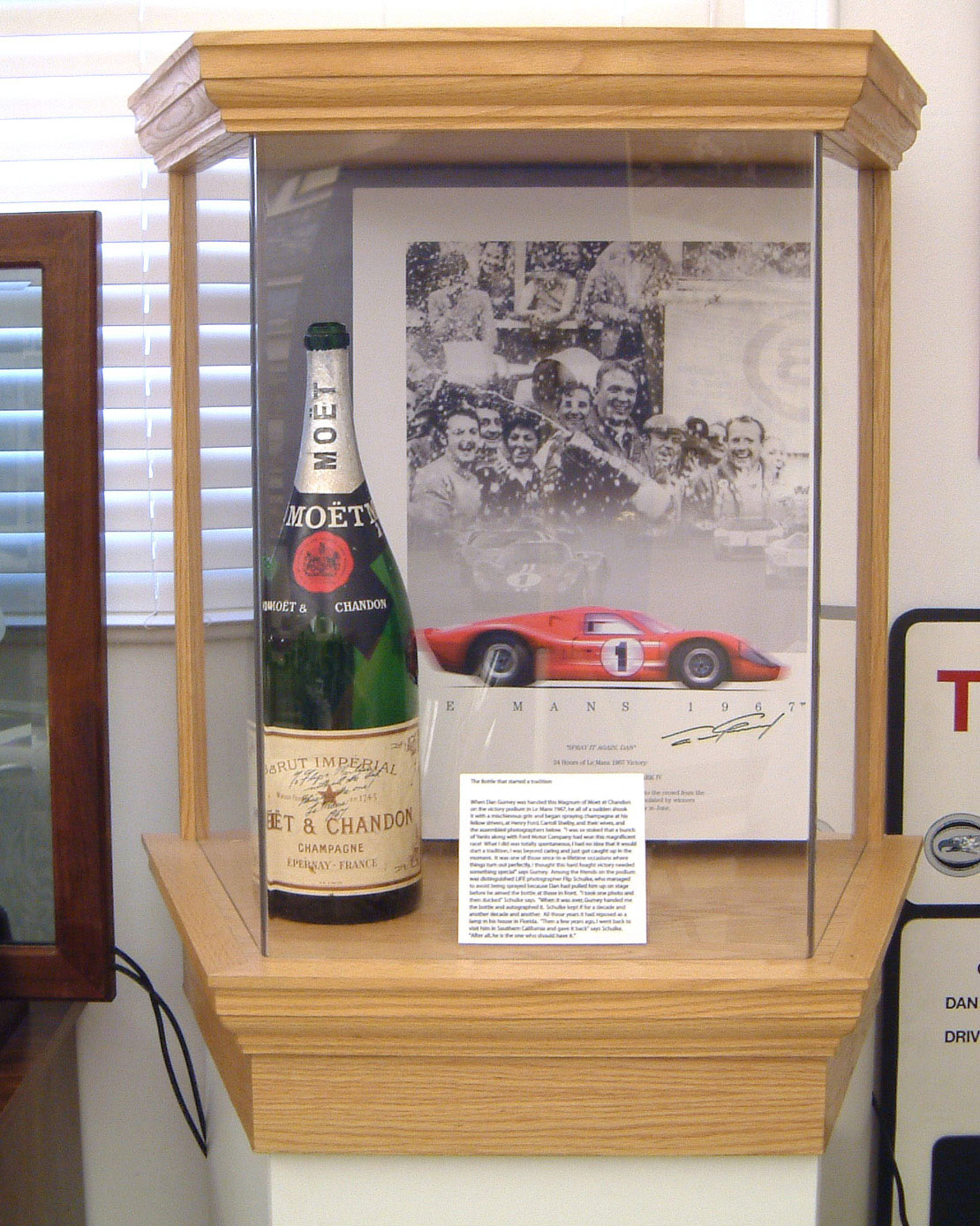 Dan Gurney's Moët & Chandon Bottle