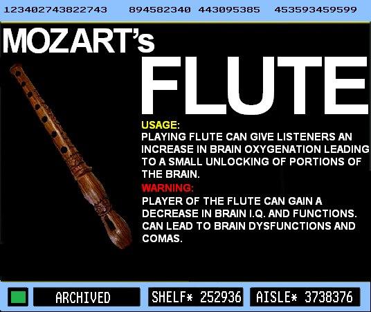 Wolfgang Amadeus Mozart's Flute