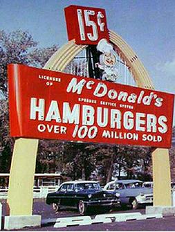100th McDonald's Sign