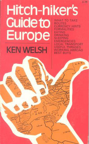 """Douglas Adam's Copy of """"Hitchiker's Guide to Europe"""""""