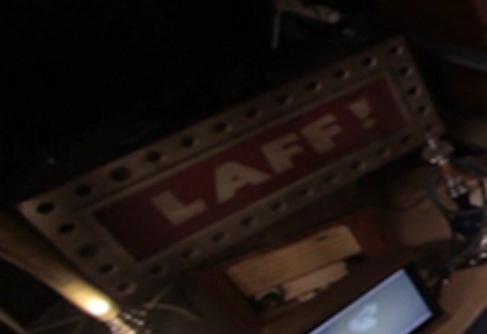 "Caught-in-the-Throat ""Laff!"" Sign"