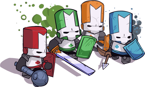 Castle Crasher Knight's Weapons