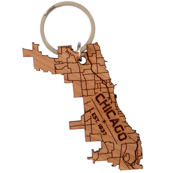 Chicago City Key Chain