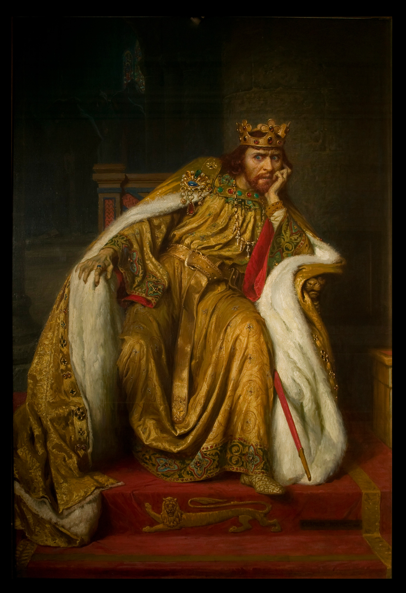 John, King of England's Throne