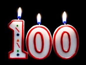 Candles from Jeanne Calment's 100th Birthday Cake