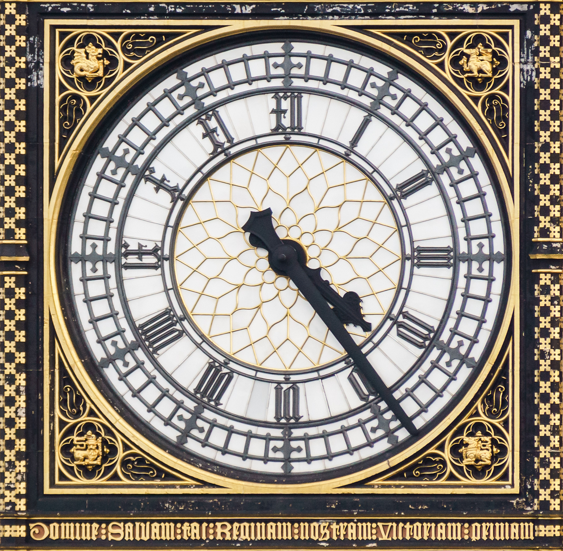 Clock Face and Hands from the Original Big Ben