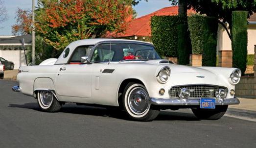 The Blonde's '56 White T-bird